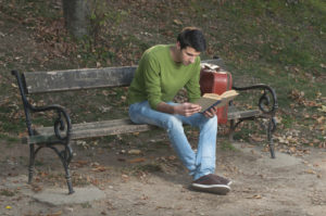 Teen Boy Reading