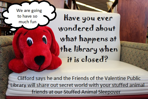 Join us for a Stuffed Animal Sleepover