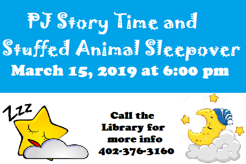 Join us for a PJ Story Time and Stuffed Animal Sleepover