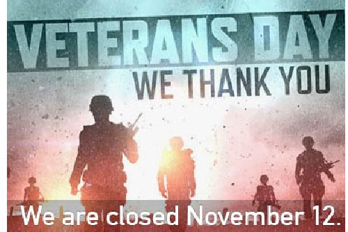 Closed November 12th