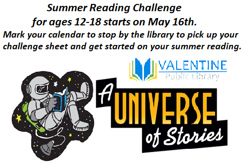 Summer Reading Challenge for ages 12 to 18