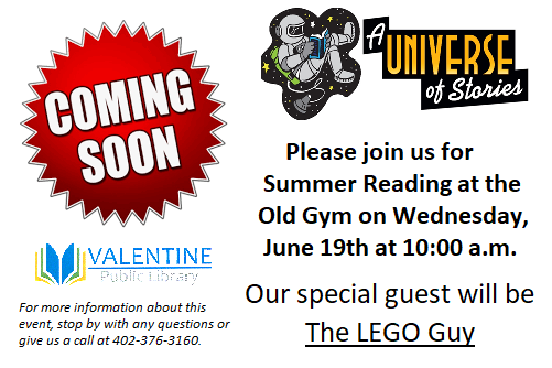 The LEGO Guy will be here June 19th