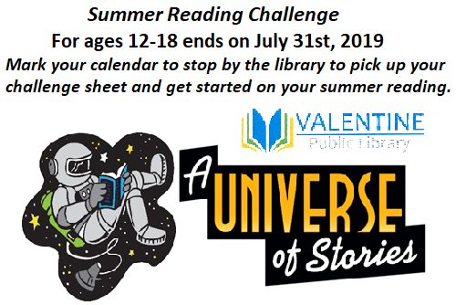 Summer Reading Prize Levels for ages 12-18