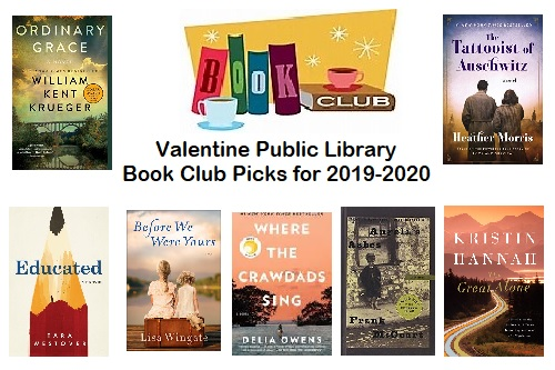 Book Club picks for 2019-2020