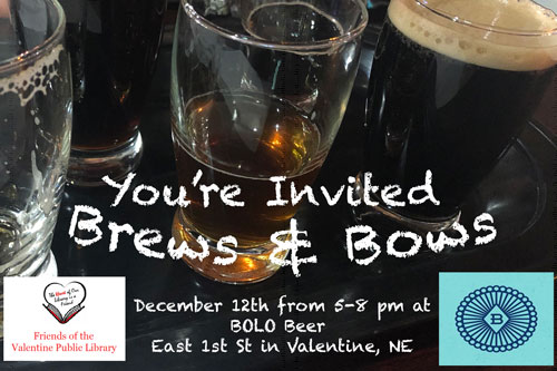 You're Invited to Brews & Bows