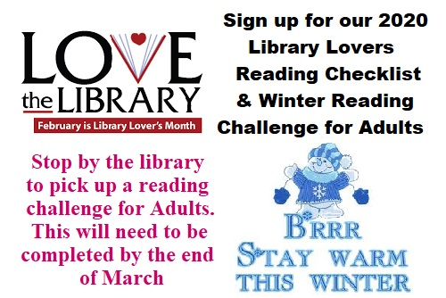 Winter Reading Challenge for Adults Starts February 1st