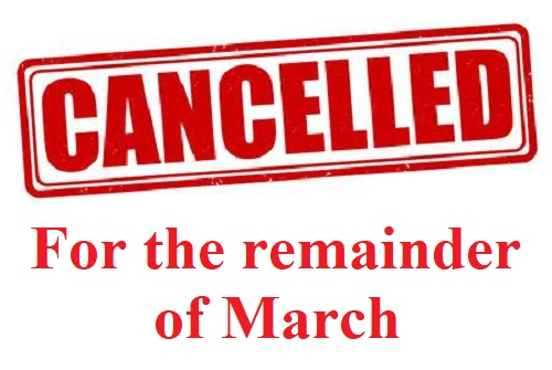 Tech Tuesdays cancelled for the remainder of March