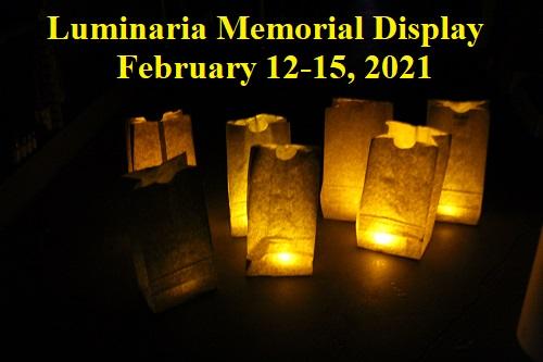 Luminaria Memorial Display
